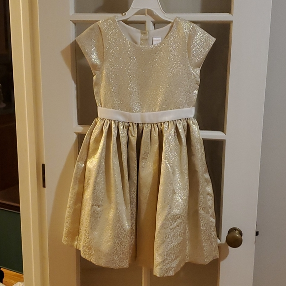 """Gorgeous gold and ivory """"tapestry"""" dress"""